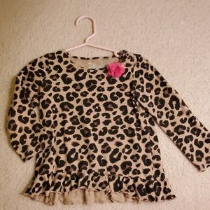 Cheetah Print Long Sleeve Tee